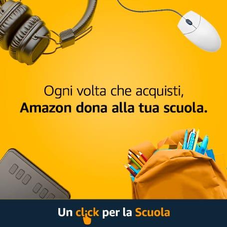 Banner Un click per la Scuola Amazon - link al sito Amazon